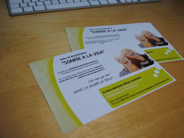 Flyer para taller de risoterapia