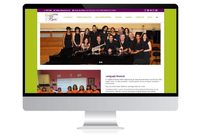 Diseño Web para Escuela de Música - Udaberria Musika Vitoria-Gasteiz