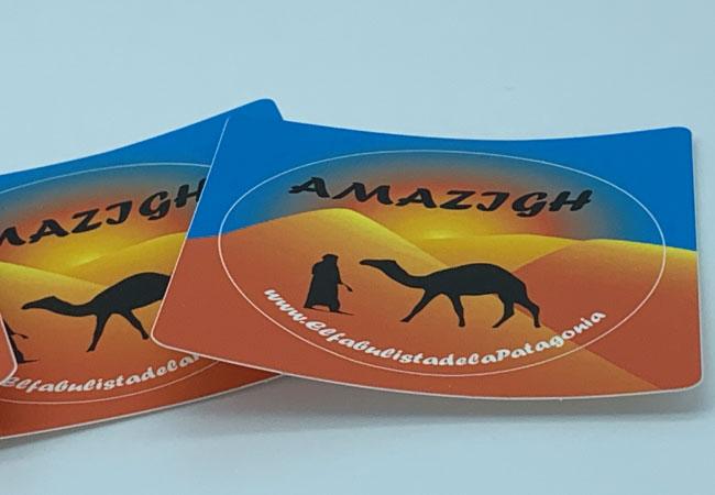 Diseño de pegatinas para lanzamiento de libro