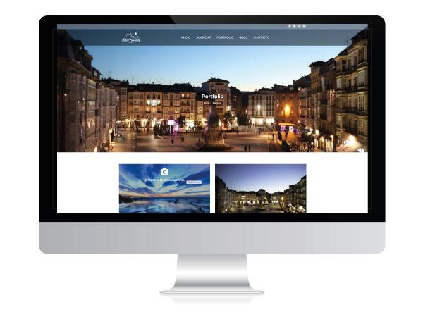 Diseño web para fotógrafo