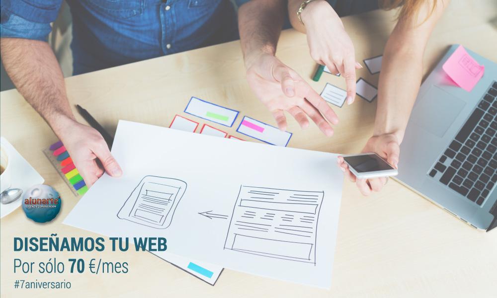 Diseño web por 70€/mes