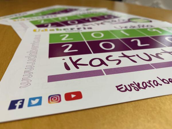 Diseño de folletos para Udaberria Euskaltegia | Vitoria-Gasteiz