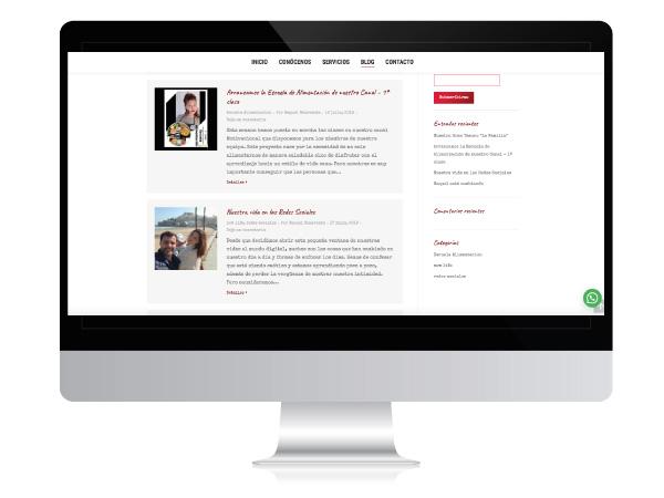 Diseño web de blog personal | Alunarte Vitoria-Gasteiz