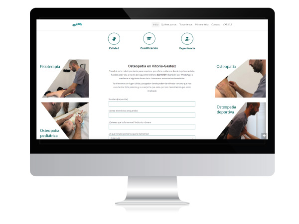 Diseño web para osteopatía | Amorrortu Osteopatía