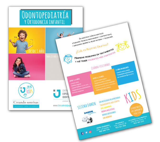 Campaña publicitaria odontopediatría | Alunarte diseño y comunicación