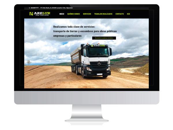 Diseño página web corporativa Arelur | ALUNARTE diseño y comunicación | Vitoria-Gasteiz