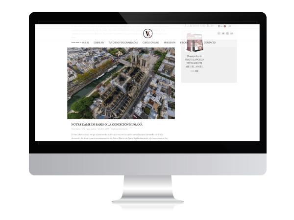 Diseño web con plataforma para cursos online de Vitruvio Arte | Alunarte diseño y comunicación | Vitoria-Gasteiz