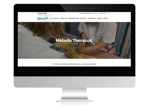 Diseño web para centro de fisioterapia y neurorrehabilitación Neurocorp | Alunarte diseño y comunicación | Vitoria-Gasteiz