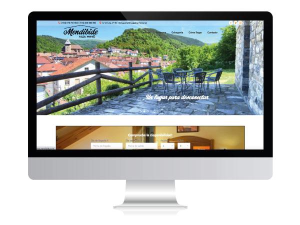 Diseño web para Casa Rural Mendibide | ALUNARTE diseño y comunicación