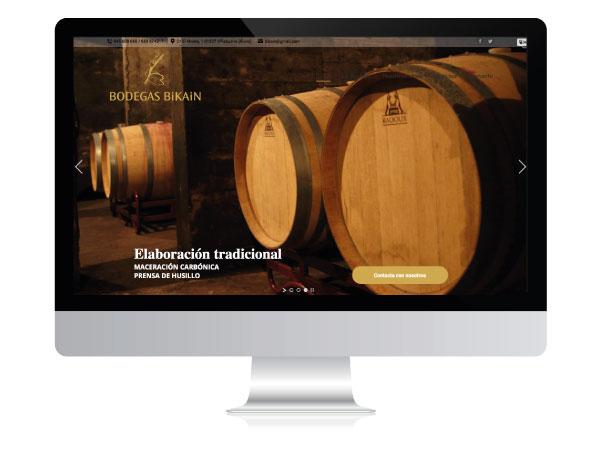 Diseño web para Bodegas Bikain | ALUNARTE diseño y comunicación | Vitoria-Gasteiz
