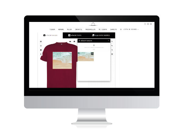 Diseño de tienda online de ropa personalizada | ALUNARTE diseño y comunicación