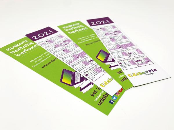 Marcapáginas personalizados para Udaberria Euskaltegia | Alunarte diseño y comunicación