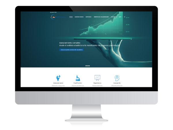 Diseño web para consultoría estadística | Alunarte diseño y comunicación | Vitoria-Gasteiz