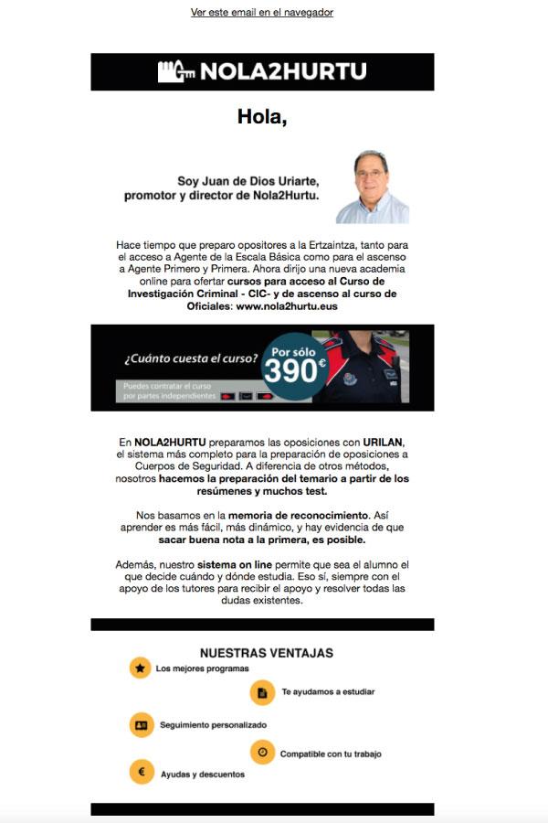 Campañas de mailing o envío de newsletters | Alunarte diseño y comunicación