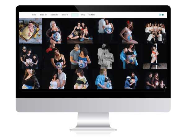 Diseño web de Belly Painting en Vitoria-Gasteiz
