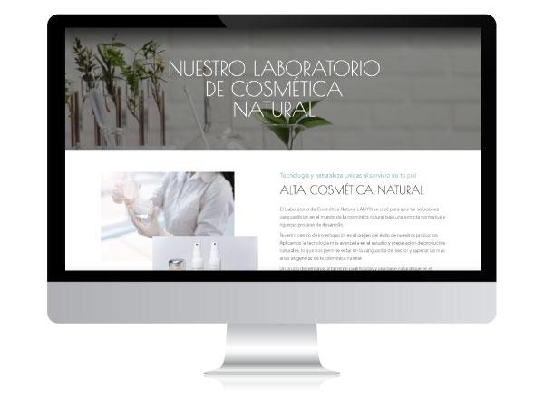 Diseño de tienda online de cosmética natural Lanyn   Alunarte diseño web