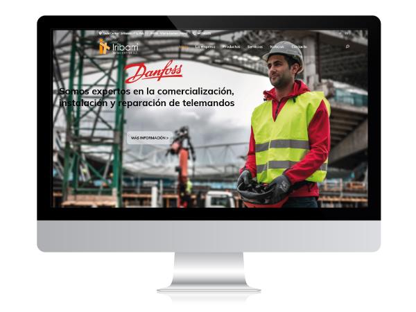 Diseño web para empresa de telecontrol Iribarri - Alunarte diseño y comunicación